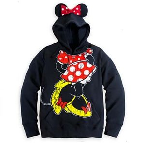 Disney | Minnie Ear Graphic Cozy Hoodie Fleece
